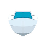 Motor boat front view icon - 218790238