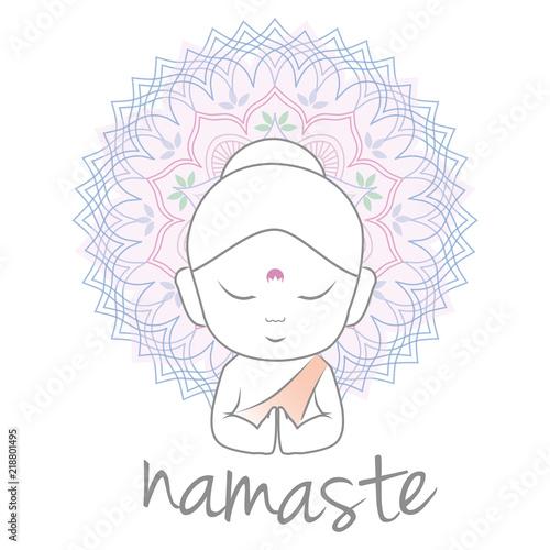Cute buddha sending greetings the word namaste is a respectful cute buddha sending greetings the word namaste is a respectful greeting also called m4hsunfo