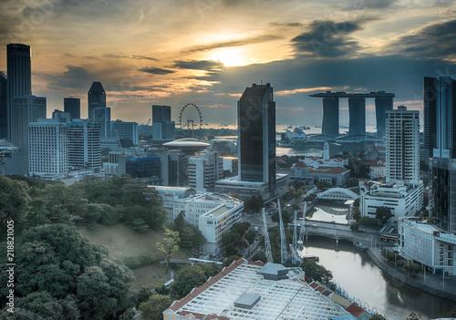 Singapore skyline at morning