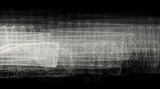 Abstract black-and-white shaded wide background. Vector graphic pattern of thin lines - 218823410
