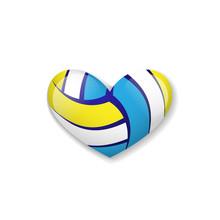 Love Volleyball Object Sticker