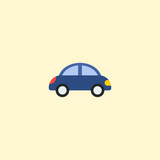 Toy car icon flat element. Vector illustration of toy car icon flat isolated on clean background for your web mobile app logo design.