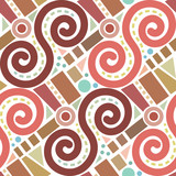 Retro abstract geometric vector seamless pattern background 3 - 218859671