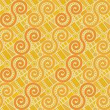 Retro abstract geometric vector seamless pattern background 4 - 218859697