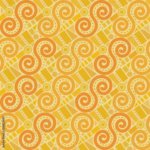 Retro abstract geometric vector seamless pattern background 4