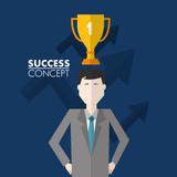 success concept card - 218865610