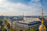 Aerial view with Madeleine Church, Eiffel tower and symbol of Le Printemps store - 218869229