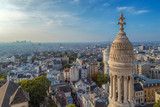 Rooftop and aerial view from Sacre Coeur Basilica, Paris - 218869239