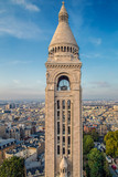 Rooftop and aerial view from Sacre Coeur Basilica, Paris - 218869241
