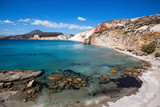 Beautiful sea beach in the Milos island, Greece, Aegean sea. - 218884487