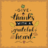 Happy Thanksgiving day typography. - 218886838