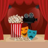 cinema food with film icons - 218892614