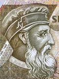 George Castriot Skanderbeg portrait from Albanian money - 218903208
