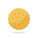 Cracker biscuit vector isolated - 218904898