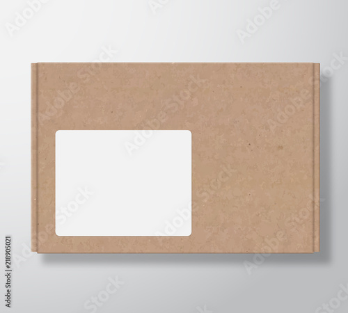 craft cardboard box container with clear white square label template