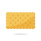 Rectangle cracker biscuit vector isolated - 218906470