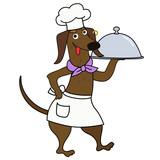 Cartoon dachshund dog chef character - 218906631