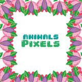 Animals pixels frame