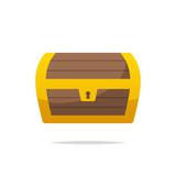 Treasure chest vector isolated illustration - 218917011