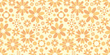 Flower background. Seamless pattern.Vector. 花のパターン - 218941259