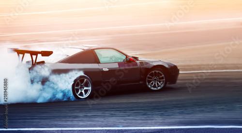 Sport Car Wheel Drifting Blurred Of Image Diffusion Race Drift Car