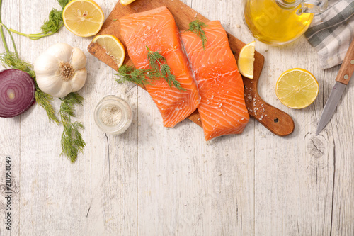 salmon with lemon - 218958049