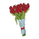 Bouquet of flowers cartoons pop art vector illustration graphic design