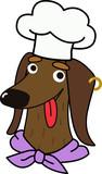 Cartoon dachshund dog chef character - 218962410