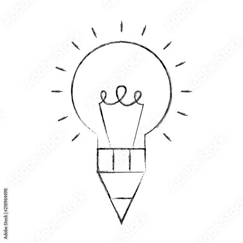 Fototapeta bulb idea pen creativity design artistic