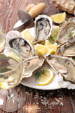 oyster and wine - 218969427