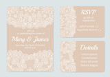 Set of wedding cards - 218991051
