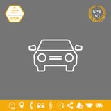 Car symbol line icon