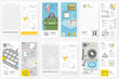 Bifold brochure and cover design collection