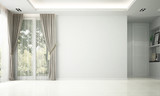 Modern empty living and dining room interior design and garden view  - 219019443