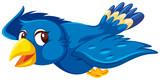 Cute flying blue bird