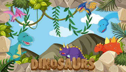 A frame of dinosaurs © brgfx