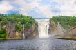View at the Montmorency falls near Quebec in Canada