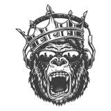 King gorila face  - 219078207