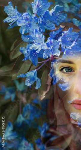 Leinwanddruck Bild Woman person flower