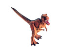 Red small dinosaur on a white background