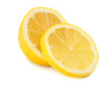 healthy food. lemon with slices isolated on white background