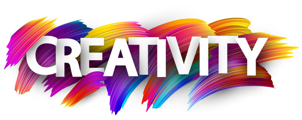 Creativity sign with colorful brush strokes. © Vjom