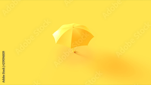 Leinwandbild Motiv Yellow Umbrella 3d illustration