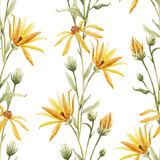 Watercolor floral pattern - 219099036