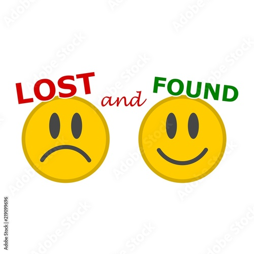 lost and found sign smiles icon buy photos ap images detailview