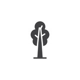 Tree plant vector icon. filled flat sign for mobile concept and web design. Ecology simple solid icon. Symbol, logo illustration. Pixel perfect vector graphics