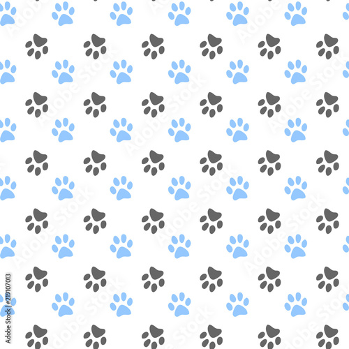 obraz lub plakat Vector seamless pattern with cat or dog,kitten or puppy footprints. Can be used for wallpaper,fabric, web page background, surface textures.