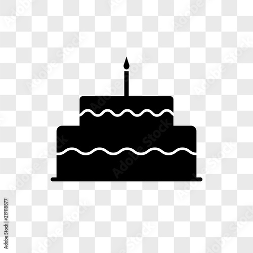 Cake Vector Icon On Transparent Background Cake Icon Buy Photos