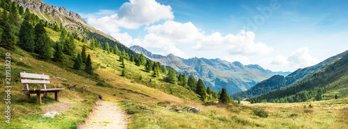 panorama gór dolomitów