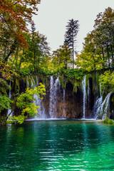 The karst Plitvice Lakes